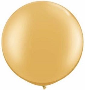 30 inch Pearl Gold Round Helium Balloon