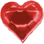 30 Red Heart Shape Casino Foil Balloon