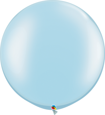 Qualatex 30 inch Round Pearl Light Blue Uninflatable Latex Balloon
