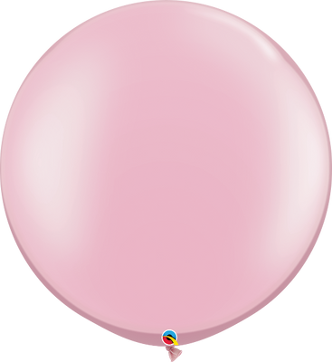Qualatex 30 inch Round Pearl Pink Uninflated Latex Balloon