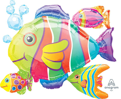 30 inch Tropical Fish Foil Balloons