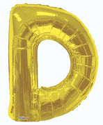 Gold Jumbo Balloon Letter D (Includes Helium and Weight)
