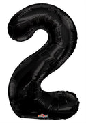 Black Jumbo Balloon Number 2 Includes Helium and Weight