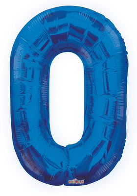 Blue Jumbo Balloon Number 0