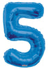 Blue Jumbo Balloon Number 5