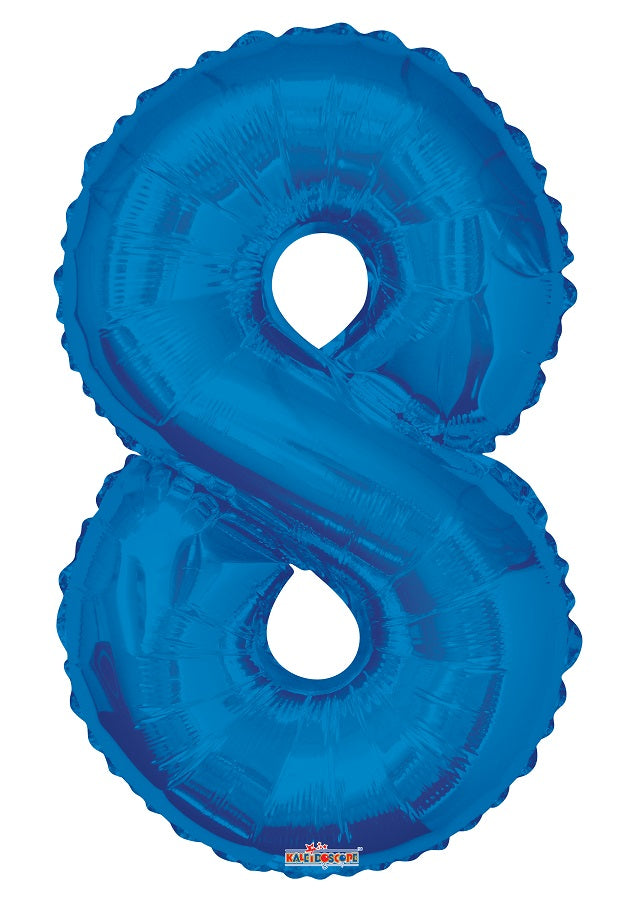 Blue Jumbo Balloon Number 8