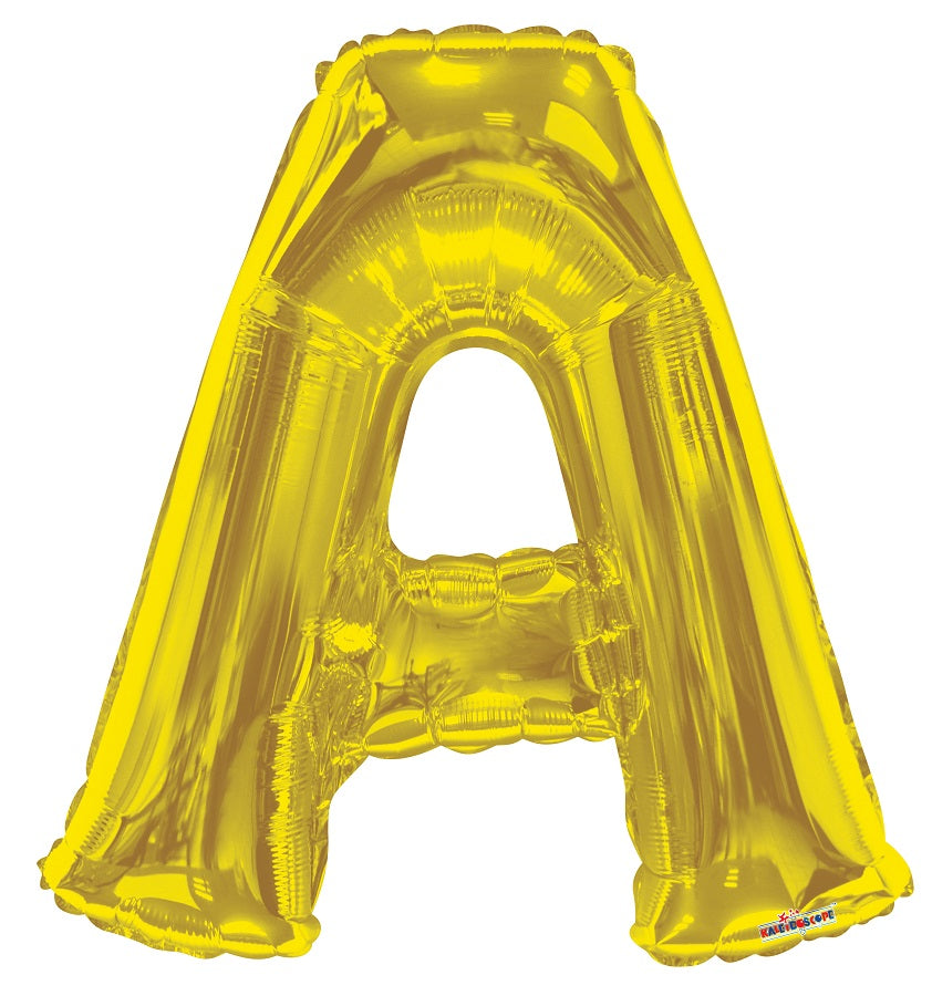 Gold Jumbo Balloon Letter A (Includes Helium and Weight)