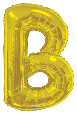 Gold Jumbo Balloon Letter B (Includes Helium and Weight)