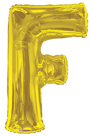 Gold Jumbo Balloon Letter F (Includes Helium and Weight)