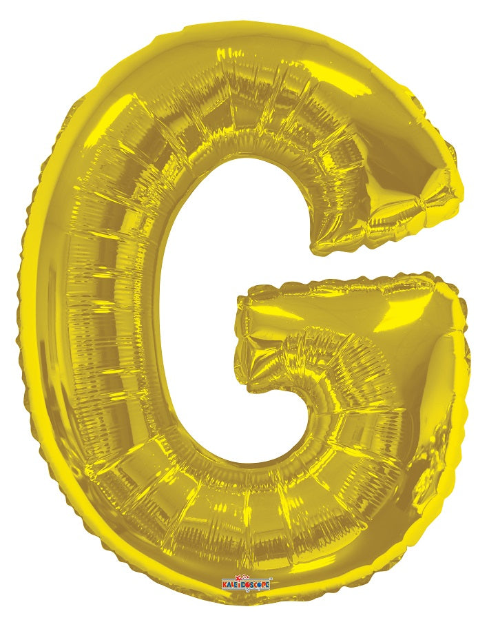 Gold Jumbo Balloon Letter G (Includes Helium and Weight)