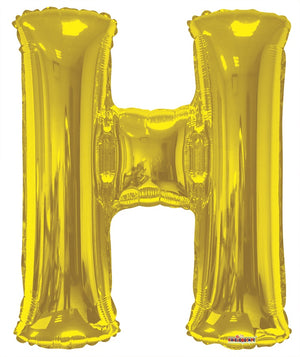 Gold Jumbo Balloon Letter H (Includes Helium and Weight)