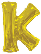 Gold Jumbo Balloon Letter K (Includes Helium and Weight)