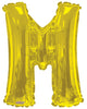 Gold Jumbo Balloon Letter M (Includes Helium and Weight)