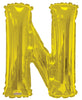 Gold Jumbo Balloon Letter N (Includes Helium and Weight)