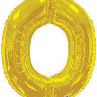 Gold Jumbo Balloon Letter O (Includes Helium and Weight)