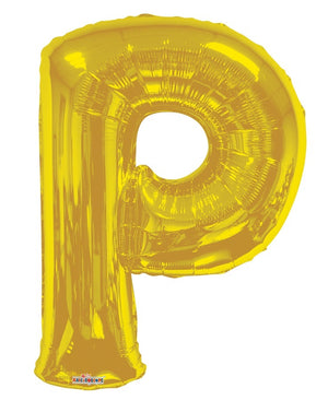 Gold Jumbo Balloon Letter P (Includes Helium and Weight)
