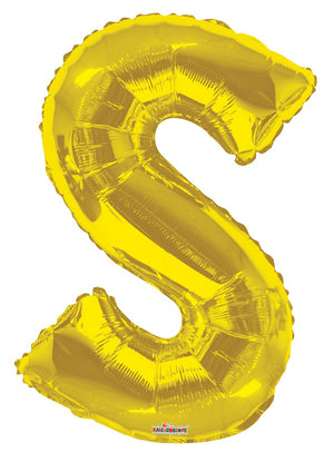 Gold Jumbo Balloon Letter S (Includes Helium and Weight)