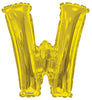 Gold Jumbo Balloon Letter W (Includes Helium and Weight)