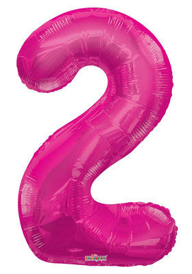 Pink Jumbo Balloon Number 2 (Includes Helium and Weight)