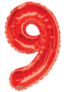 Red Balloon Jumbo Balloon Number 9 (Includes Helium and Weight)