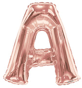 Rose Gold Jumbo Balloon Letter A (Includes Helium and Weight)