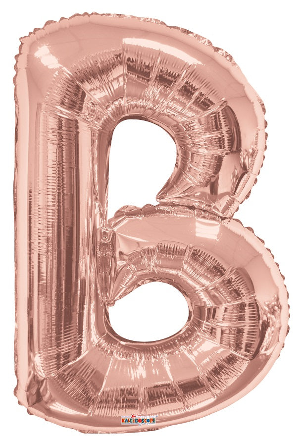 Rose Gold Jumbo Balloon Letter B (Includes Helium and Weight)
