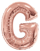 Rose Gold Jumbo Balloon Letter G (Includes Helium and Weight)