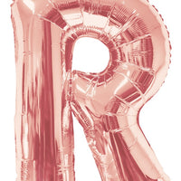 Rose Gold Jumbo Balloon Letter R (Includes Helium and Weight)