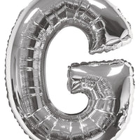 Silver Jumbo Balloon Letter G (Includes Helium and Weight)