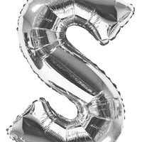 Silver Jumbo Letter Balloon S (Includes Helium and Weight)