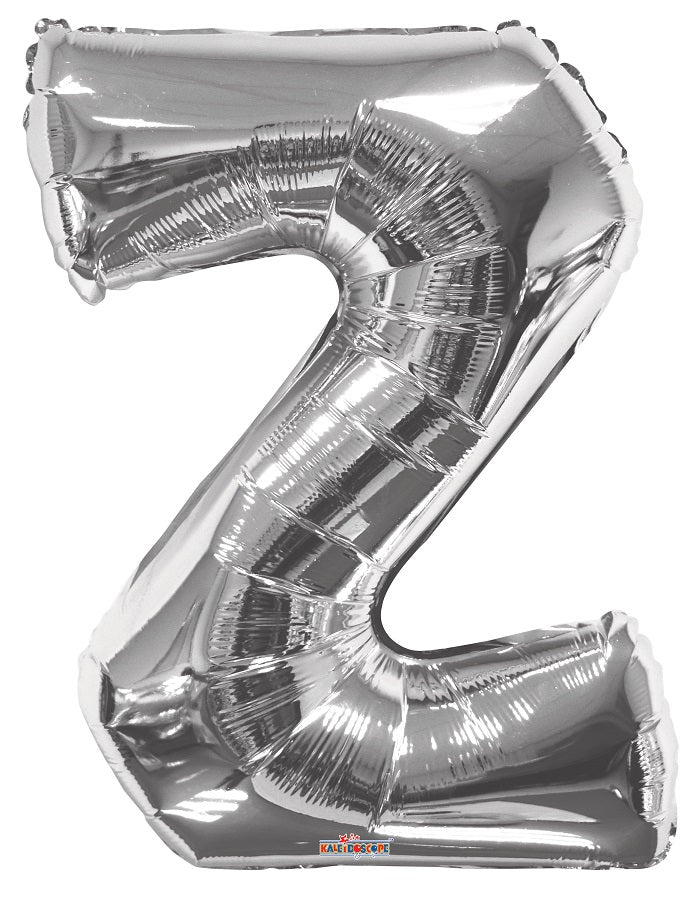 Silver Jumbo Balloon Letter Z (Includes Helium and Weight)