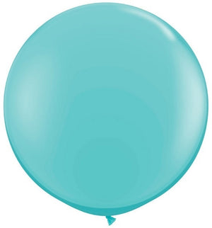 Qualatex 36 inch Round Caribbean Blue Uninflated Latex Balloon