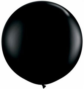 Qualatex 36 inch Round Onyx Black Latex Balloon