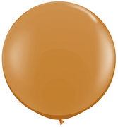 36 inch Mocha Brown Round Helium Balloon