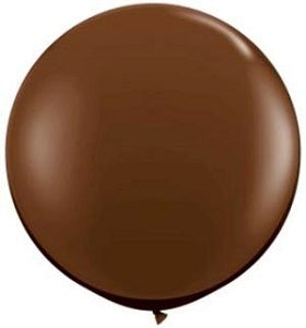 Qualatex 36 inch Round Chocolate Brown Uninflated Latex Balloon