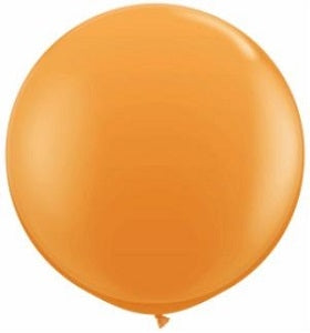 36 inch Orange Round Helium Balloon
