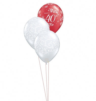 40th Anniversary Balloon Bouquet 2