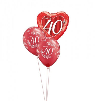 40th Anniversary Balloon Bouquet 3