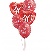 40th Anniversary Balloon Bouquet 7