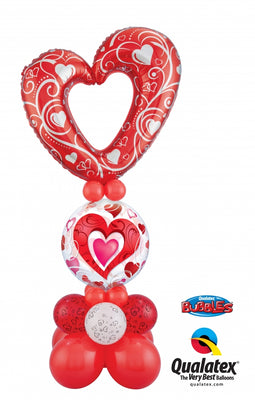 Red Heart Balloon Stand Up 1