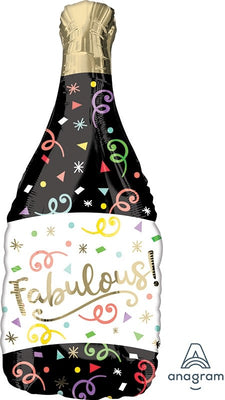 Birthday Champagne Bubbly 36 inch Foil Shape Balloons