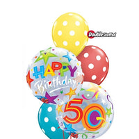 50th Birthday Bubbles Balloon Bouquet 2