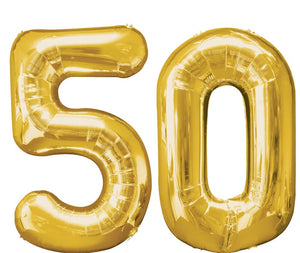 Gold Balloon Number 50