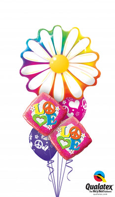 60s Flower Power Balloon Bouquet