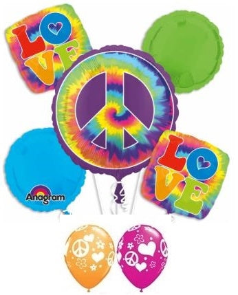 60s Peace Sign Balloon Bouquet