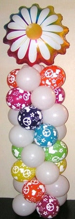 60s Flower Balloon Column
