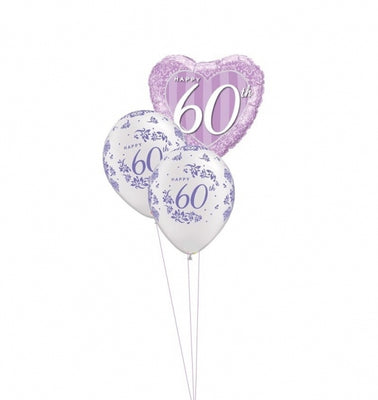 60th Anniversary Balloon Bouquet 3