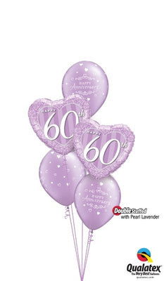 60th Anniversary Balloon Bouquet 4