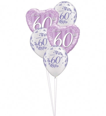 60th Anniversary Balloon Bouquet 6