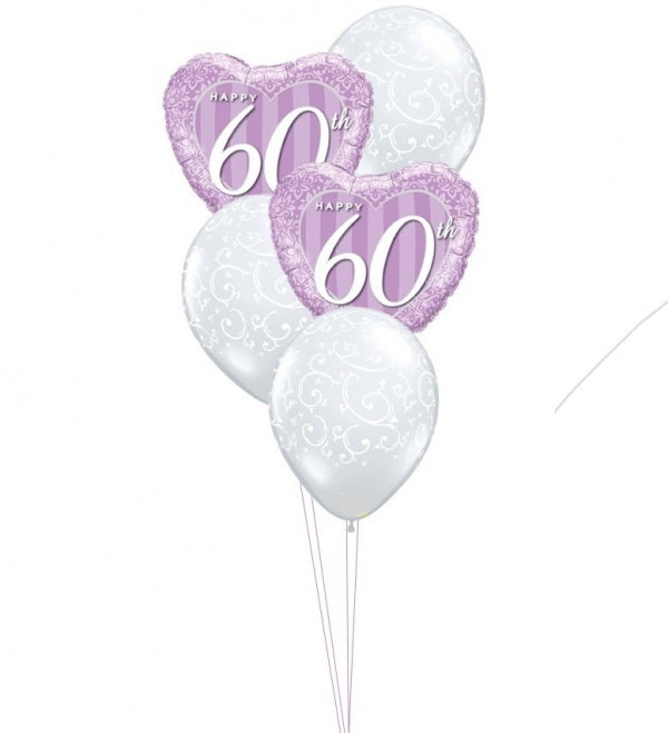 60th Anniversary Balloon Bouquet 5